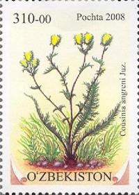 "№ 794-797.  Series. Flora. ""Rare plants of Uzbekistan"" Aster family."