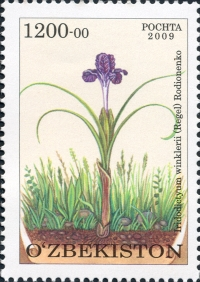 """847-848. """"Flora. O'zbekistonning noyob o'simliklari"""" pochta markalari turkumi."""