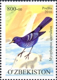 "860-864. A series of stamps ""Fauna. Rare birds of Uzbekistan"" ."