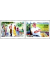 "734-735.Series of postage stamps ""The 100th birthday of Abdulla Kakhar""."