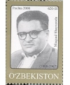 "806. Postage stamp ""The 100th birthday of Maqsud Shayxzoda""."